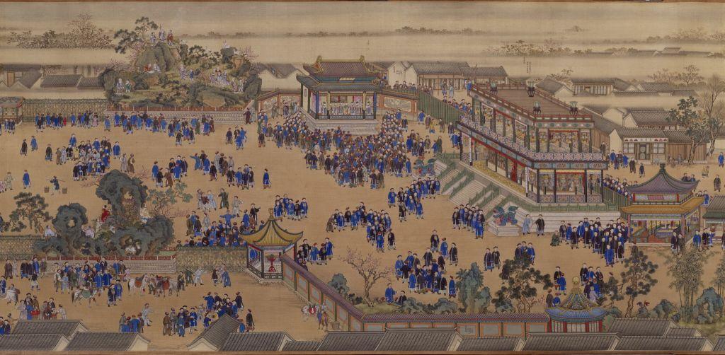 孝圣宪皇后万寿庆典图卷-祝寿部分